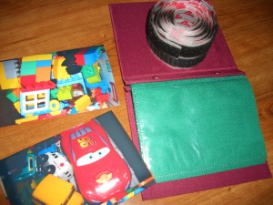 All you need for labeling your toy bins - photos, photo pockets and velcro!